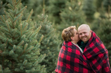 melissa kelly tree farm new years engagement photos